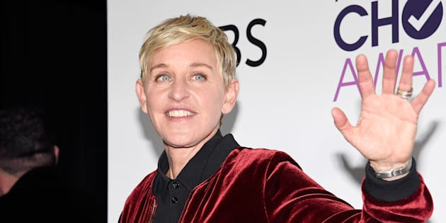 La presentadora Ellen Degeneres, en la ceremonia People's Choice Awards de 2017 en Los Ángeles (California).