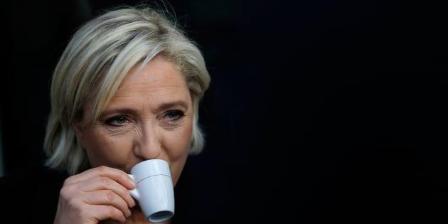 Marine Le Pen à Concarneau au mois de mars.