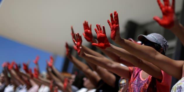 Protesto contra estupro e violência contra a mulher, em Brasília (2016).