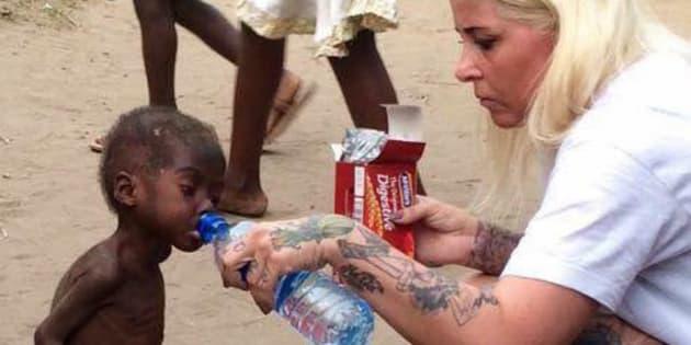 Anja Ringgren Lovén secourt en janvier 2016 le petit Nigérian Hope.