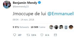 Benjamin Mendy promet à Macron de