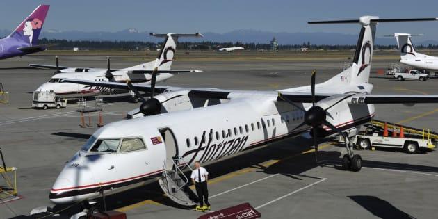 盗まれた機体と同型のホライゾン航空「ボンバルディアQ400」(本文とは無関係です)