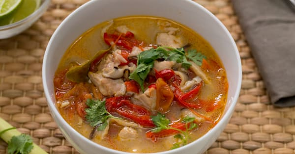This Instant Pot tom yum soup is perfect for a chilly day