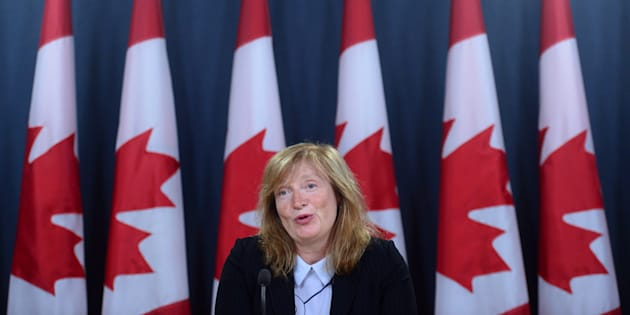 Suzanne Legault, Information Commissioner of Canada, holds a press conference the the National Press Theatre in Ottawa on June 8, 2017.