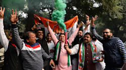 PHOTOS: Congress Workers Celebrate Gains In Assembly Elections