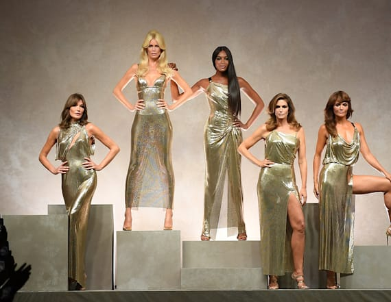 OG supermodels hit the Versace runway