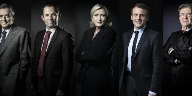 Les cinq favoris de la présidentielle débattent sur TF1.