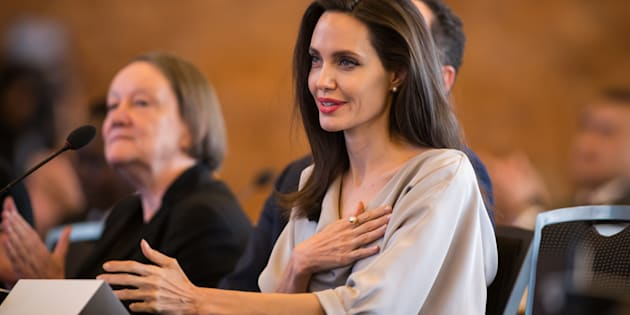 Angelina Jolie, lors du UN Peacekeeping Defense Ministerial Conference.