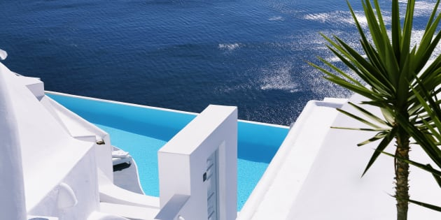 Katikies is located on the western most point of Greece's Santorini.