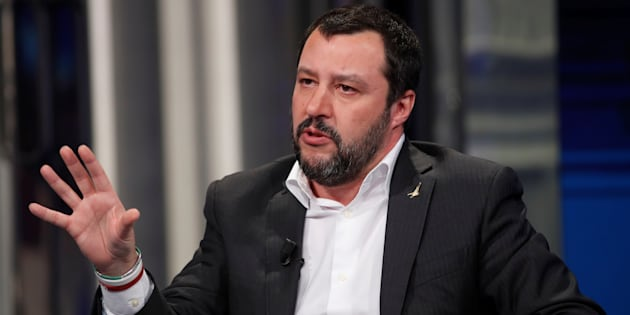 "Northern League leader Matteo Salvini gestures during the television talk show ""Porta a Porta"" in Rome, Italy, January 18, 2018. REUTERS/Remo Casilli"
