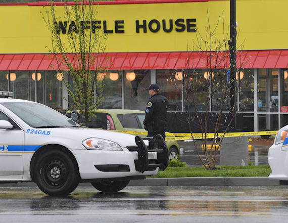 Waffle House suspect still at large after shooting