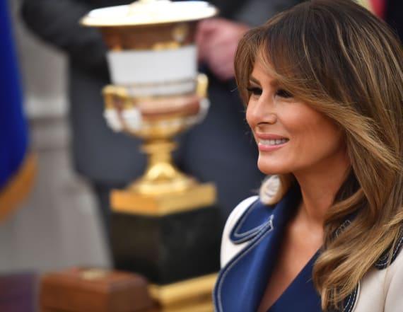 Melania Trump bundles up in $4000 Gucci coat