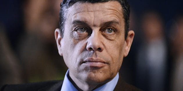 Le président de la FNSEA Xavier Beulin photographié avant de faire un discours dans le cadre du 70ème congrès de la FNSEA à Laval, le 1er avril 2016. Le principal syndicat agricole français a annoncé le décès brutal de son président à l'âge de 58 ans.