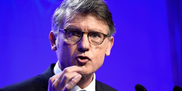 Vincent Peillon, candidat à la primaire de gauche en vue de l'élection présidentielle 2017, présentait son programme politique le 3 janvier 2017 à Paris.
