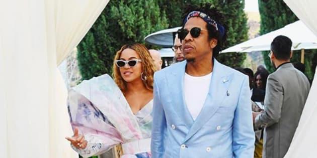Jay-Z et Beyoncé au brunch du Roc Nation avant les Grammys.