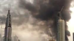 Impressionnant incendie à Dubaï près de la plus haute tour du
