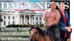 Putin topless y Trump sentado a sus espaldas: la portada de la