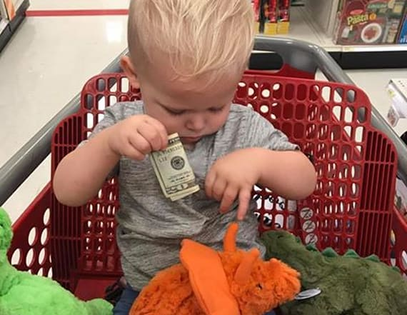 Grandfather hands toddler $20 for saddest reason