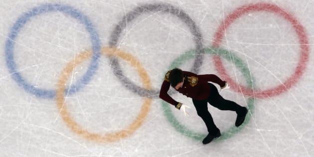 Un patineur russe le 16 février aux JO de Pyeongchang.