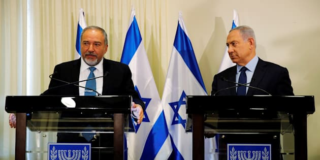 Benjamin Netanyahu, right, and Avigdor Lieberman issued assurances that the new right-wing government would behave responsibly and continue to seek peace with Israel's neighbors.