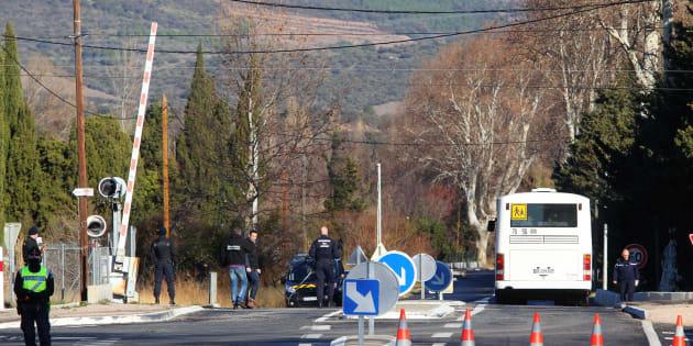 Une reconstitution de l'accident de Millas le 19 décembre 2017.