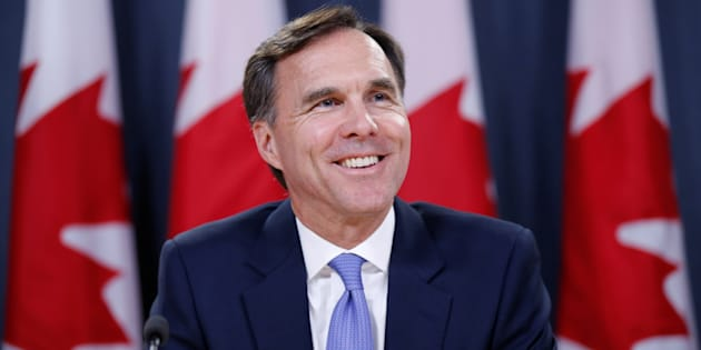 Finance Minister Bill Morneau takes part in a news conference in Ottawa on July 18, 2017.