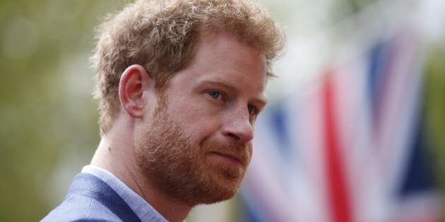 Prince Harry during the marathon. Action Images via Reuters / Matthew Childs Livepic