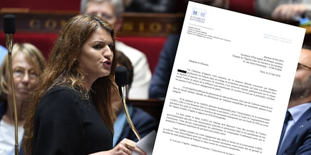 """Une professeure trans a été """"outée"""" sur les réseaux sociaux: alertée par un député, Marlène Schiappa a saisi les services compétents."""
