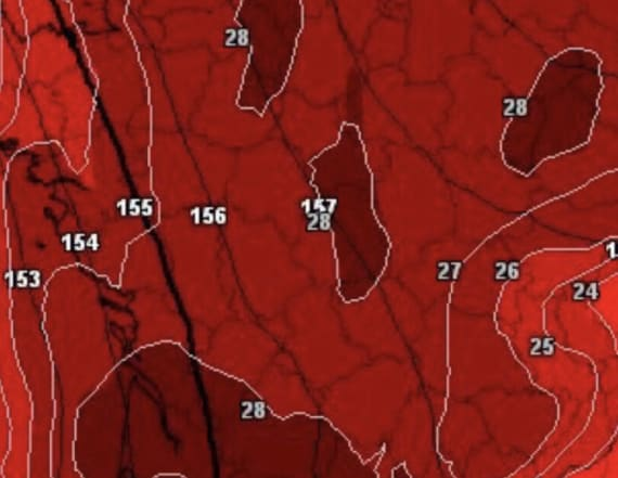 Extreme heat map of France depicts eerie skull