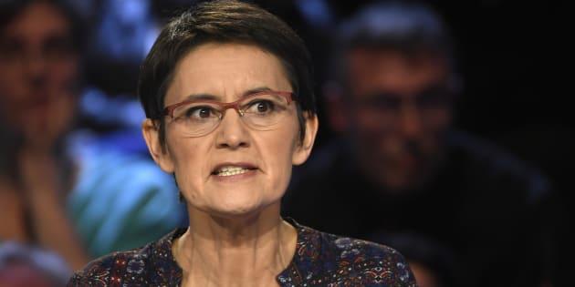 Nathalie Arthaud, candidate de Lutte ouvrière, le 4 avril 2017.