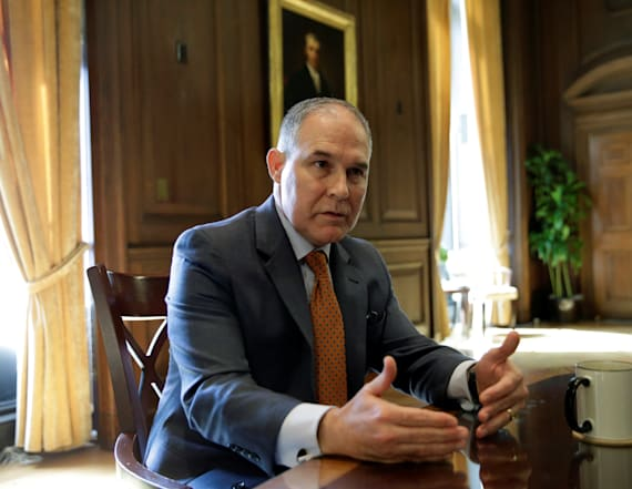Pruitt spent almost half of spring in his home state