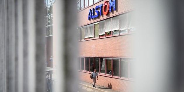 La façade de l'usine Alstom de Belfort, en septembre.