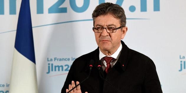 Jean-Luc Mélenchon à Paris le 23 avril 2017.