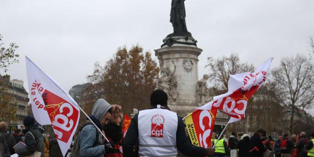 Une manifestation de la CGT à Paris le 1er décembre 2018.