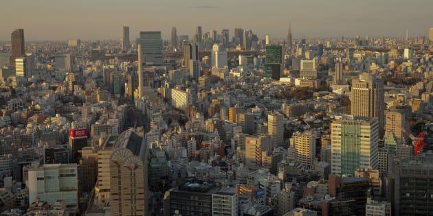 Sprawling Tokyo landscape.