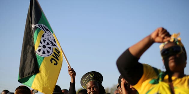 Supporters of the ANC. Photo: REUTERS/Siphiwe Sibeko