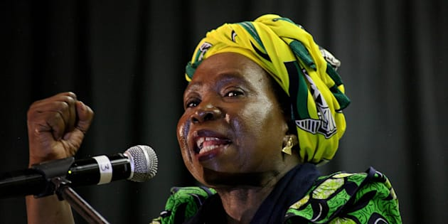 Nkosazana Dlamini-Zuma addressing ANC Youth League members and students at the Durban University of Technology on issues of free education  in Durban on April 20, 2017. (Siyanda Mayeza/Foto24/Gallo Images/Getty Images)