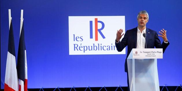 Laurent Wauquiez à l'université d'été des Républicains au Touquet le 28 août.