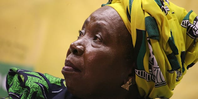 Nkosazana Dlamini-Zuma addresses ANC Youth League members and students on issues of free education at the Durban University of Technology on April 20, 2017 in Durban, South Africa.