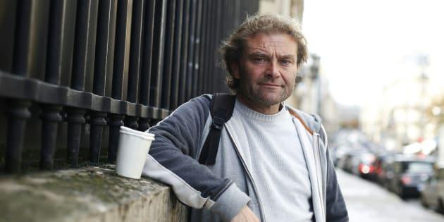Jean-Marie Roughol, 48 ans, à Paris, est le SDF qui a fait le sujet du livre de Jean-Louis Debré.