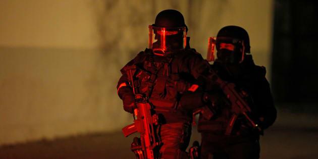 Des forces de sécurité à Strasbourg ce jeudi 13 décembre.