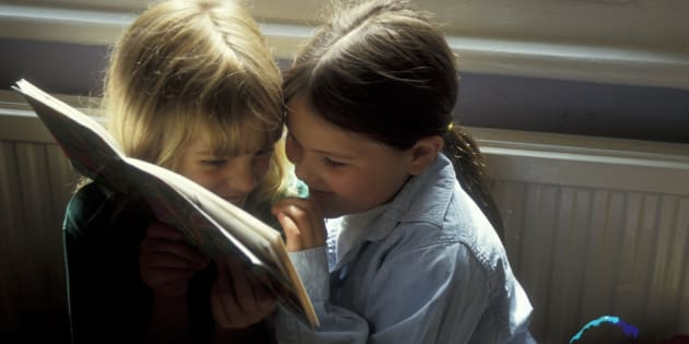 """""""It is the simple, satisfying joy of laughter that is leading them to books."""""""