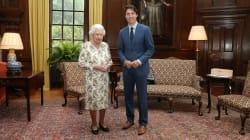 Justin Trudeau rencontre la reine Élisabeth