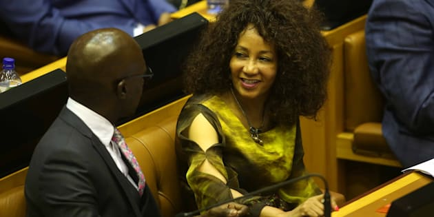 CAPE TOWN, SOUTH AFRICA  FEBRUARY 15: (SOUTH AFRICA OUT): Lindiwe Sisulu and Malusi Gigaba during Cyril Ramaphosas election as the new president of the Republic of South Africa in Parliament on February 15, 2018 in Cape Town, South Africa. Ramaphosa was elected unchallenged, as the new president of the Republic following Jacob Zumas resignation. Chief Justice Mogoeng Mogoeng presided over the election. (Photo by Esa Alexander/Sowetan/Gallo Images/Getty Images) Alexander/Sowetan/Gallo Images/Getty Images)