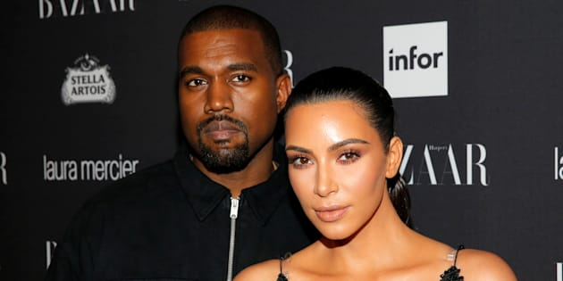 Kanye West y Kim Kardashian en una fiesta en Nueva York el 9 de septiembre de 2016.