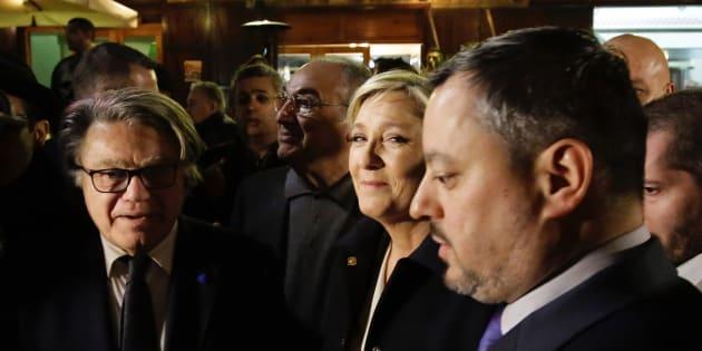 Marine Le Pen au Liban le dimanche 19 février 2017.