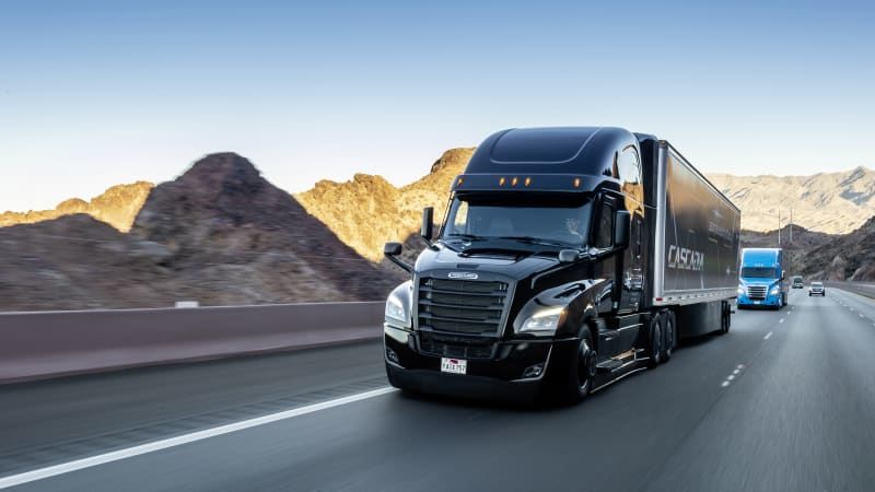 2020 Freightliner Cascadia with Level 2 driver assist shown