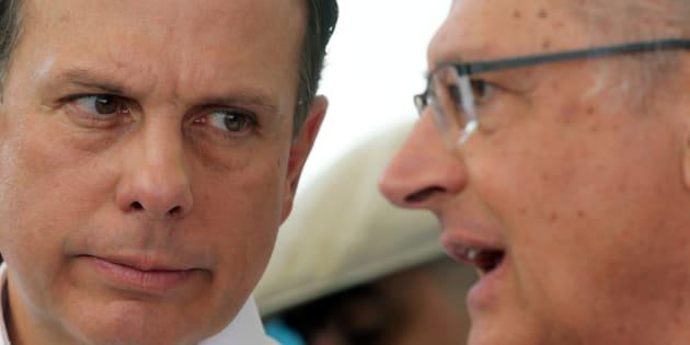 PSDB em crise: João Doria foi chamado de traidor pelo padrinho político, Geraldo Alckmin.