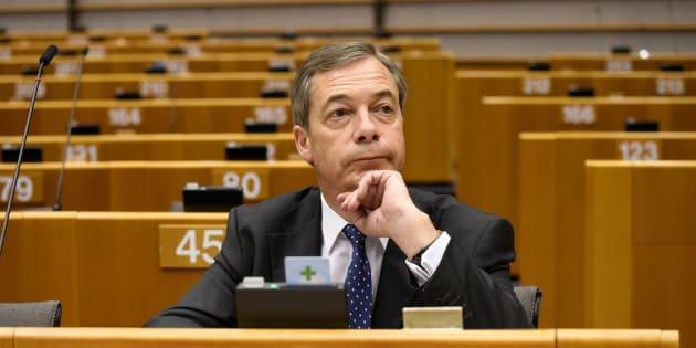 Nigel Farage au Parlement européen à Bruxelles le 29 novembre 2018.