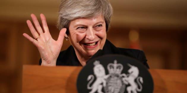 Theresa May, el pasado 15 de noviembre durante una rueda de prensa en Londres.